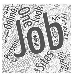 Jobs Available Online Word Cloud Concept vector