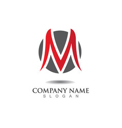Letter m icons such logos vector