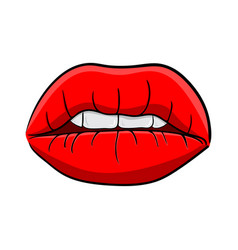 lips with teeth cartoon symbol icon design vector image