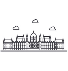London parliament line icon sign vector
