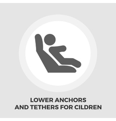 Lower anchors and tethers for children flat icon vector