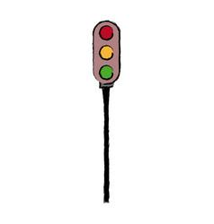 Luminous traffic light signal stoplight urban vector