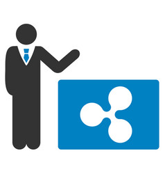 Manager show ripple flat icon vector