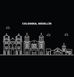 Medellin silhouette skyline colombia - medellin vector