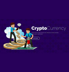 Mining process of ethereum crypto currency poster vector