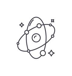 molecule line icon concept molecule linear vector image