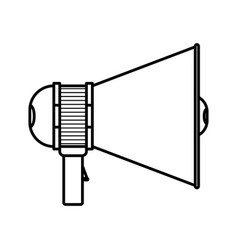 Monochrome silhouette of megaphone icon with vector