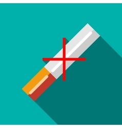 No cigarettes icon in flat style vector