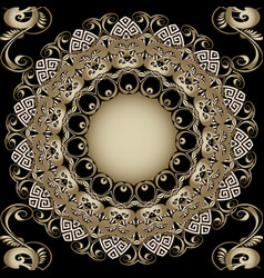 ornate 3d vintage greek mandala seamless pattern vector image