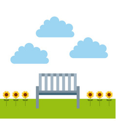 Outdoor bench icon vector