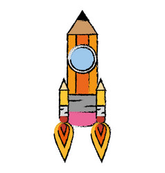 pencil drawing object vector image