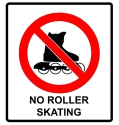 Please No rollerblades sign in isolated on vector image