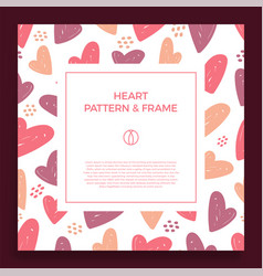 poster banner or card frame border with love hand vector image