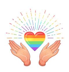 rainbow colored icon gay pride lgbt concept vector image