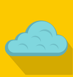 Rainy cloud icon flat style vector