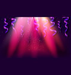 realistic gold shiny confetti vector image
