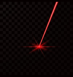 Realistic red laser beam red light ray isolated vector