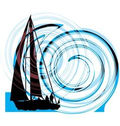 Sailing luxury yacht vector image