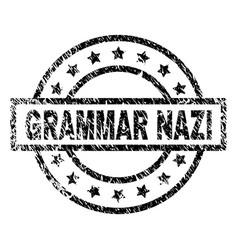 Scratched textured grammar nazi stamp seal vector