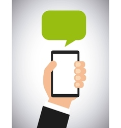 Smartphone and speech bubble vector
