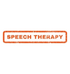Speech Therapy Rubber Stamp vector