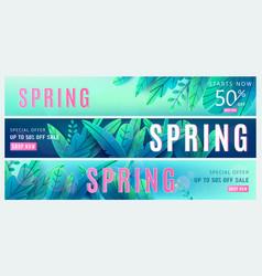 Spring sale background springtime discount poster vector