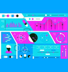 statistics data vector image