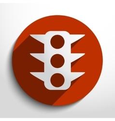 traffic light web icon vector image