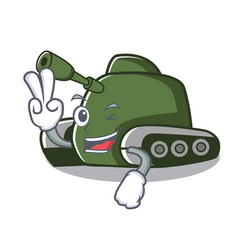 Two finger tank character cartoon style vector