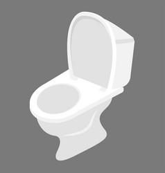 White western toilet design sanitary vector
