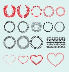 Wreath heart Vintage decorative vector