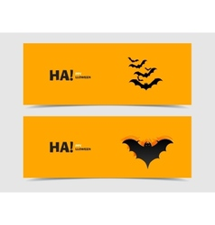 Black bats paper cut out from the background vector image
