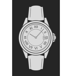 Business style hand watches Chalk on blackboard vector image vector image