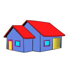 cottage icon icon cartoon vector image vector image