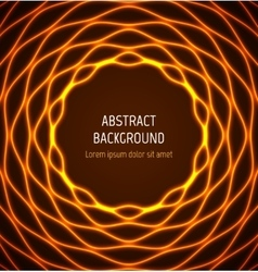 Abstract orange circle wavy border background with vector image vector image