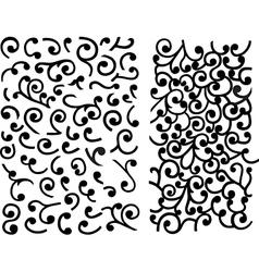 Black maze of curles vector