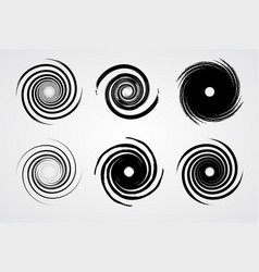 black spiral swirl vector image