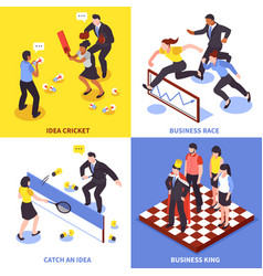 competition business icon set vector image