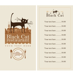 menu with cat vector image