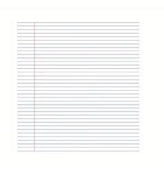 notebook background Paper in line vector image