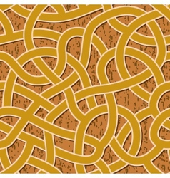 seamless abstract complex maze labyrinth path vector image vector image