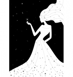 woman night illustration vector image
