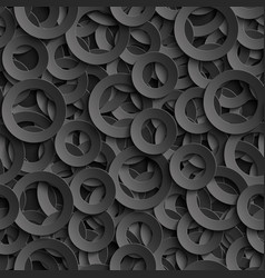 3d seamless pattern with paper cut out circles vector image