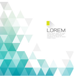 Abstract fade triangle with white space for text vector