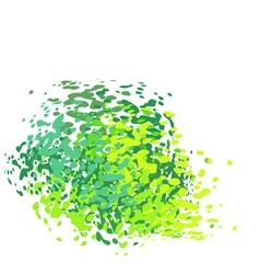 Abstract liquid green drip splatter silhouette on vector