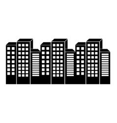 city urban icon vector image vector image