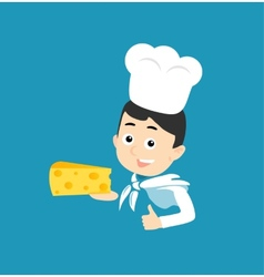 Cooking icon cheese vector