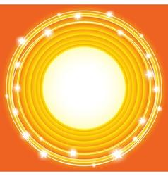orange stars background vector image