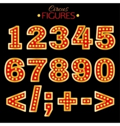 Retro Lights Figures vector image