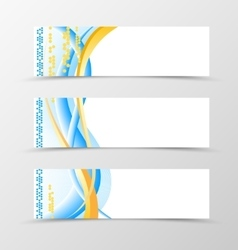Set of banner smooth design vector image